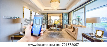 mobile phone with smart home...