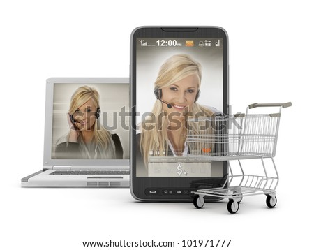 Mobile shopping - On-line Support