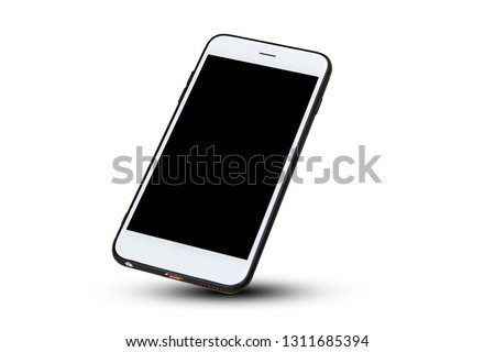 Photo of  Mobile smart phone on white background technology