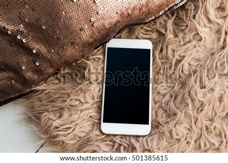 mobile, smartphone with black blank screen