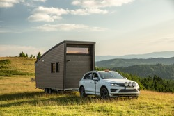 Mobile tiny house. Great for outdoor experiences and wildlife. Lots of mobility and pure adventure. No need for special authorizations, only a decent car to pull this tiny house and off you go.