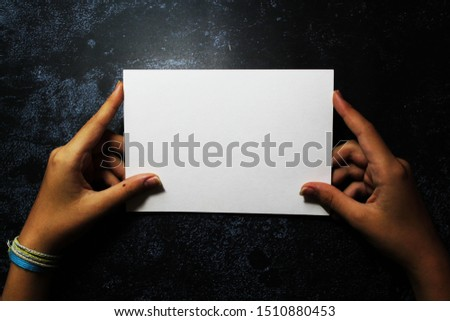 Mocapas and blanks of a hand with a white sheet