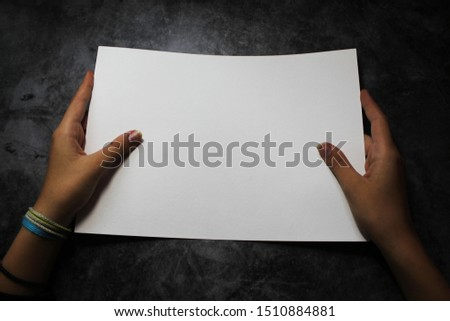 Mocapas and blanks of a hand with a white sheet #1510884881