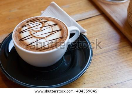 Mocha coffee in the wood table #404359045