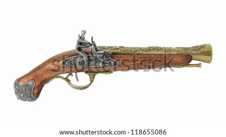 Mock of the old pirate pistol.