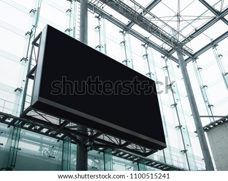Mock up Billboard Stand Media Advertising display Modern Building Exterior