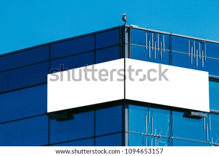 Mock up. Blank billboard outdoors, outdoor signboard on modern building