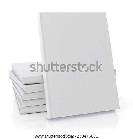 mock up blank book, isolated on white background