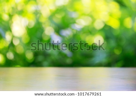 Photo of mock up blurred natural background with copy space
