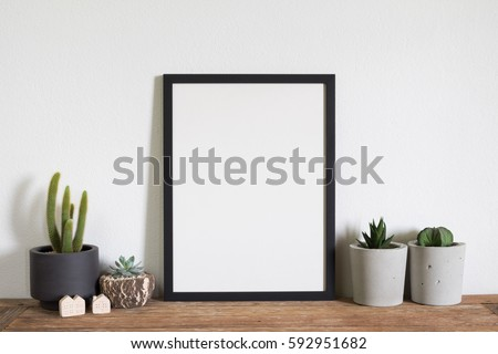 mock up frame  photo