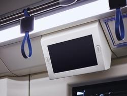 Mock up Lcd screen Blank digital frame display indoor Subway train