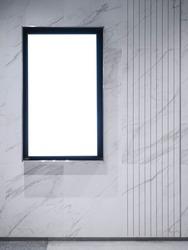 Mock up LCD Screen display Blank digital media Indoor Building