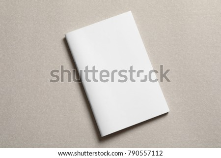 Mock up of brochure on light background #790557112