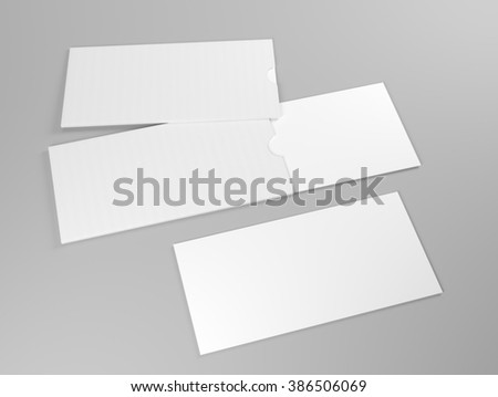 Mock up of white card with white holder