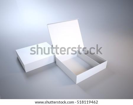mock up open box on a light...