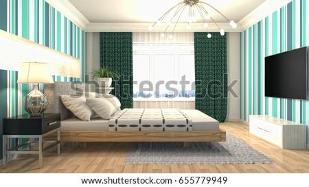 mock up poster frame in interior background. 3D Illustration #655779949