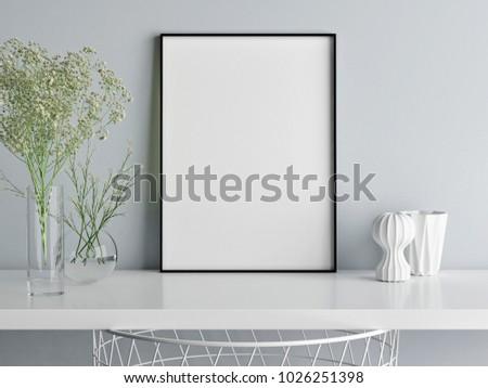 mock up poster minimalism...