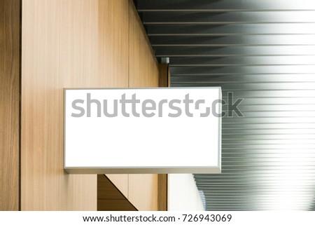 Mock up. Signboard of store, shop. Rectangular shape