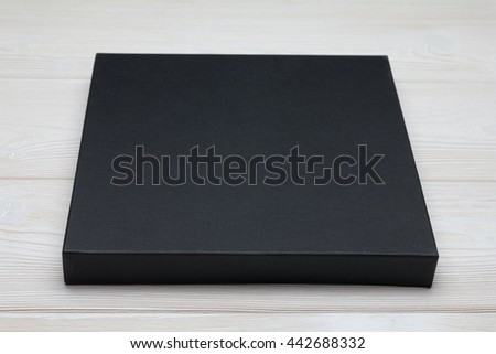 free photos mockup white flat box on black table template ready