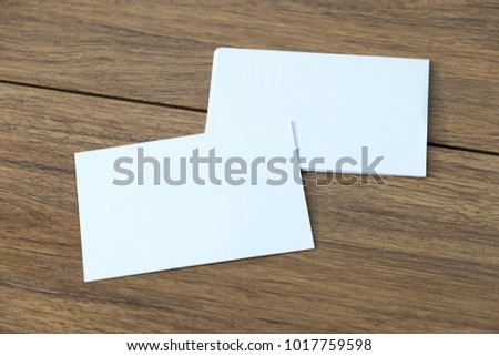 Mockup Business card top view Template for branding identity