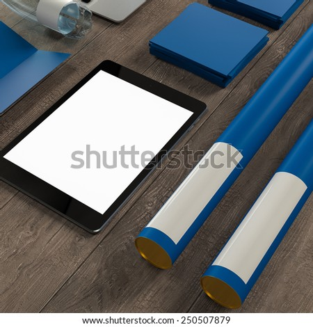 Mockup business template. Documentation for business. High resolution. 3D render