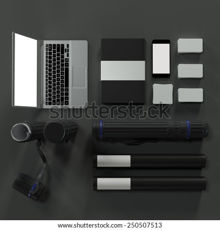 Mockup business template. Documentation for business. High resolution render