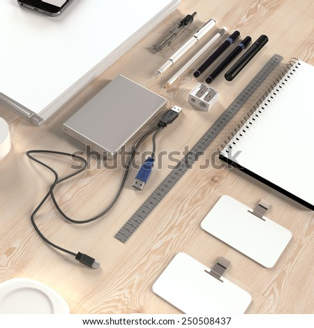 Mockup business template. Documentation for business. High resolution render.