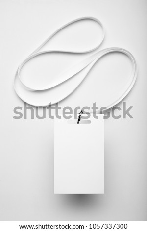 Mockup card badge, staff identity on white background. #1057337300