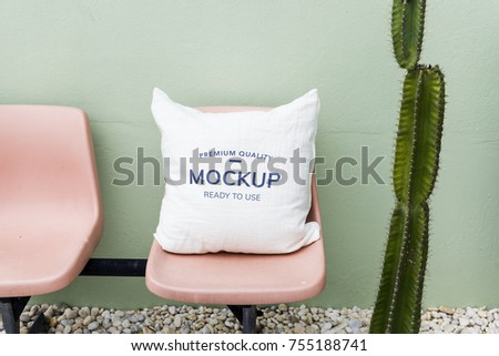 Mockup design space on cusion pillow