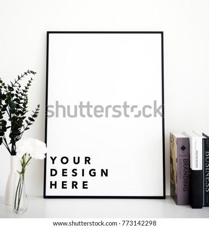 Mockup design space photo frame