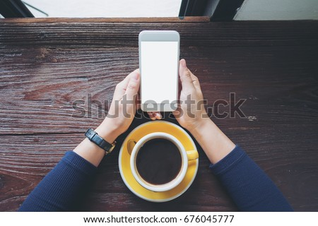 mockup image of a woman's hands ...