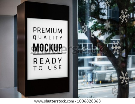 Mockup of a sign board