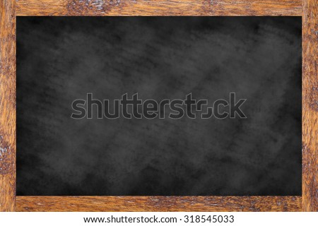 mockup of art vintage chalk board texture with old vintage wooden frame for work about design element