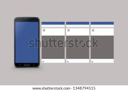 Mockup of cellphone isolated
