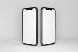 mockup smartphones frameless 3d render background