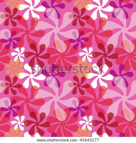 """Mod seamless pattern in pinks. 12"""" repeat."""