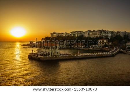 Moda Pier (Moda iskele) at sunset Foto d'archivio ©
