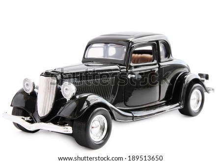 model antique car  isolated on...