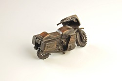 Model bronze motorcycle