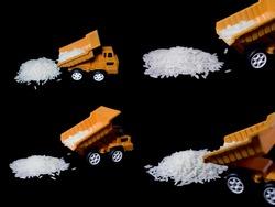 Model car transport of rice