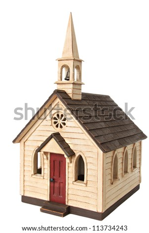 Model chapel, isolated on white.