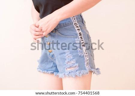 Model Fashion clothes  #754401568