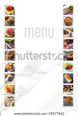 Model for a restaurant menu