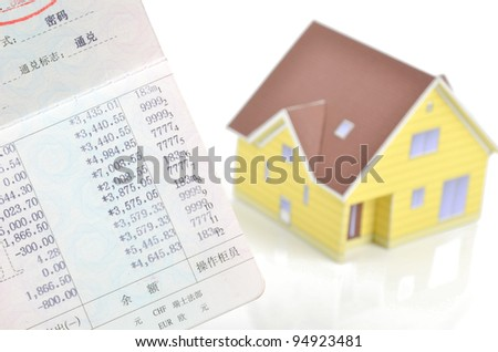 Model house and bankbook