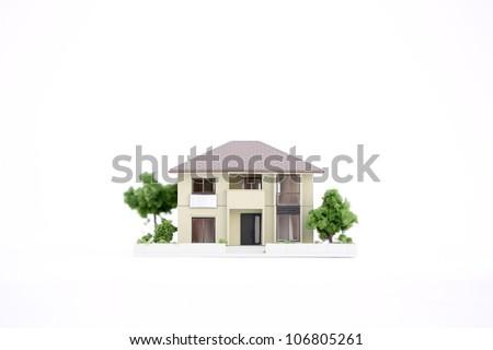 model house on white
