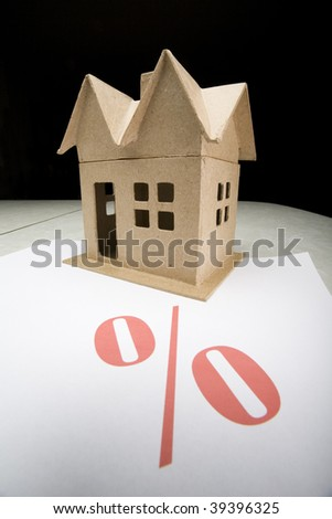 Model House with Percentage Sign