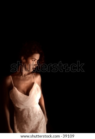 model in night gown