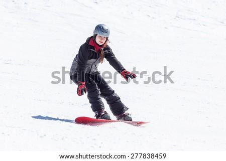 Model Jana in Ski resort Les Orres, Hautes-Alpes, France
