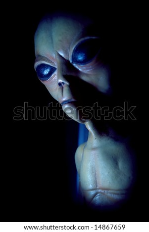 Model of alien from crash at Roswell, NM in 1947.