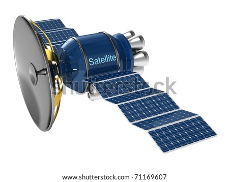 Model of an artificial satellite.